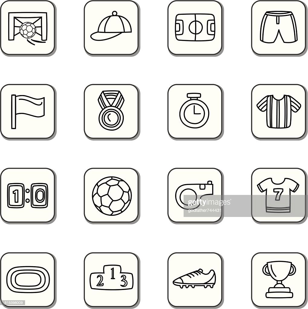 Sport Competition Doodle Icons