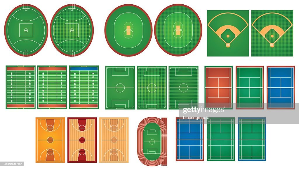 Sport courts and fields