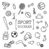 Sport doodles set