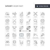 Sport Editable Stroke Line Icons