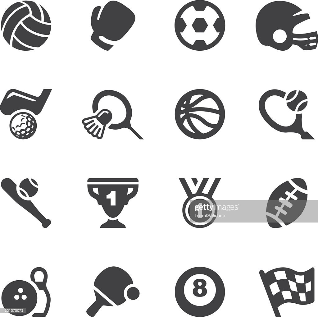 Sport Equipment Silhouette Icons 1 | EPS10