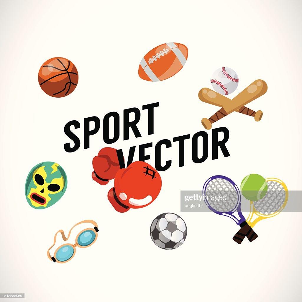 Sport equipments - vector Illustration