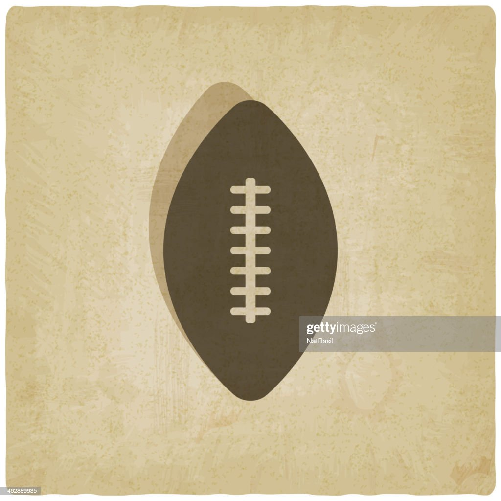 sport football logo old background