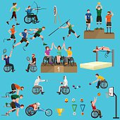 sport for people with prosthesis, physical activity and competition  invalid