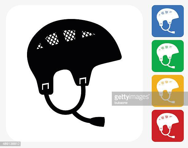 sport helmet icon flat graphic design - safety american football player stock illustrations, clip art, cartoons, & icons