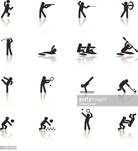 sport icon - the olympic games stock illustrations