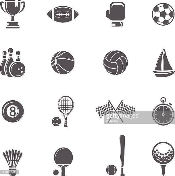sport icon - volleyball sport stock illustrations, clip art, cartoons, & icons