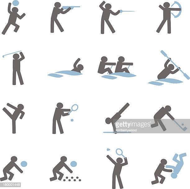 sport icon - bang boat stock illustrations