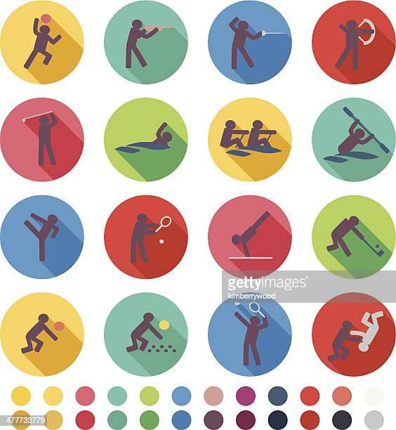 sport icon - badminton sport stock illustrations, clip art, cartoons, & icons