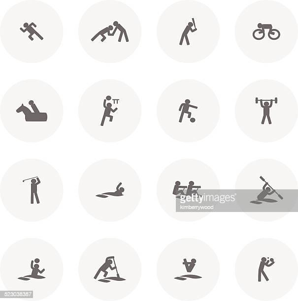 ilustrações de stock, clip art, desenhos animados e ícones de ícone de desporto - judo