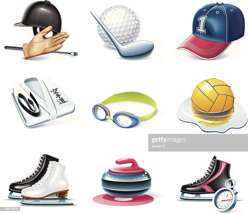 Sport icons. Cartoon style