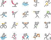Sport Icons,  Monoline, human figure concept