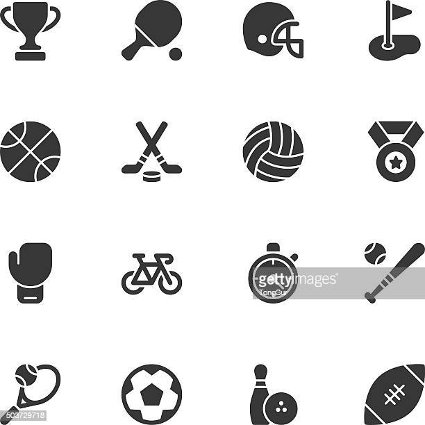 sport icons - regular - team sport stock illustrations