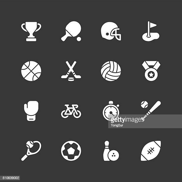 Sport icons - Regular - White Series