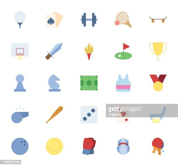 sport icons set - badminton racket stock illustrations