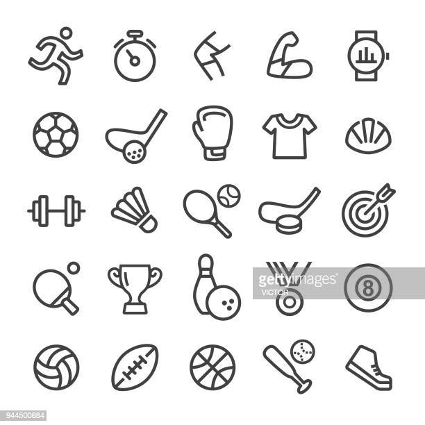sport icons - smart line series - sport stock illustrations