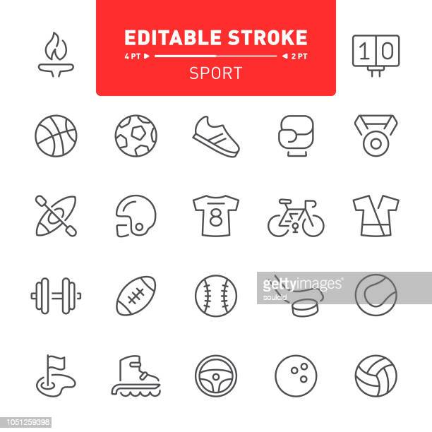 sport icons - team sport stock illustrations