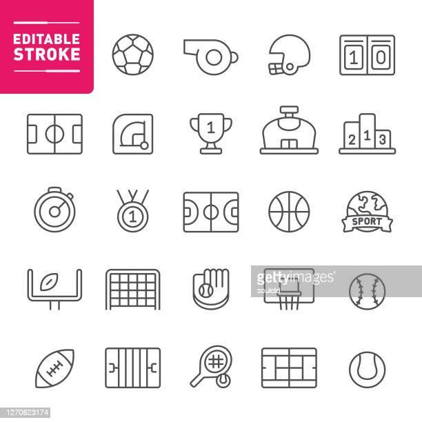 sport icons - team sport stock illustrations