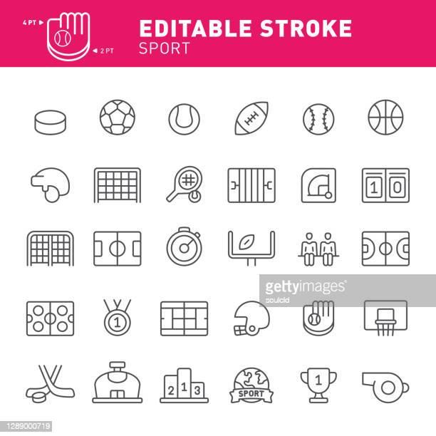 sport icons - hockey puck stock illustrations