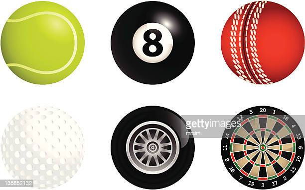 sport icons - pool ball stock illustrations, clip art, cartoons, & icons