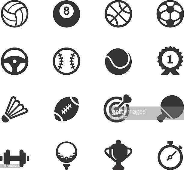 sport icons - tennis stock illustrations
