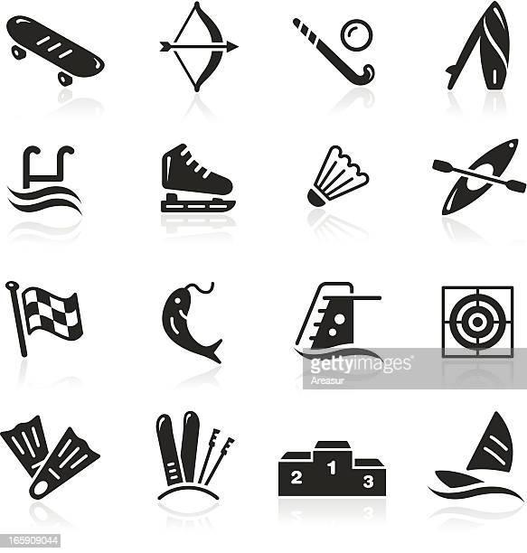 illustrations, cliparts, dessins animés et icônes de icônes de sport - ski alpin