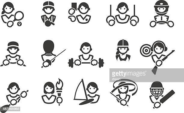 sport icons - sport torch stock illustrations, clip art, cartoons, & icons