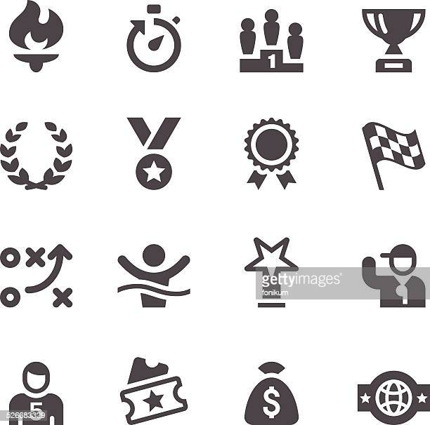 sport icons - competitive sport stock illustrations, clip art, cartoons, & icons