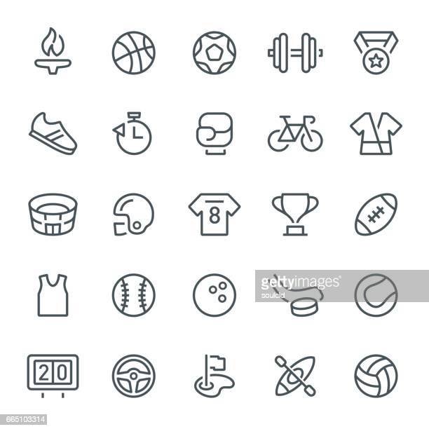 sport icons - sports equipment stock illustrations