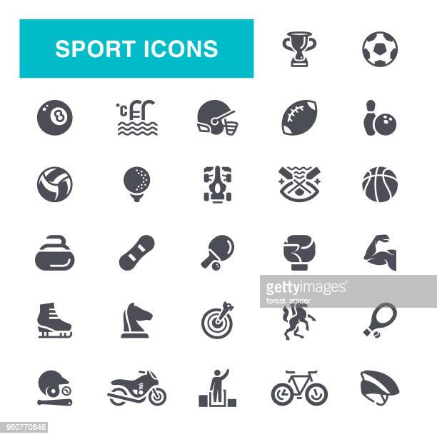 sport icons - american football sport stock illustrations