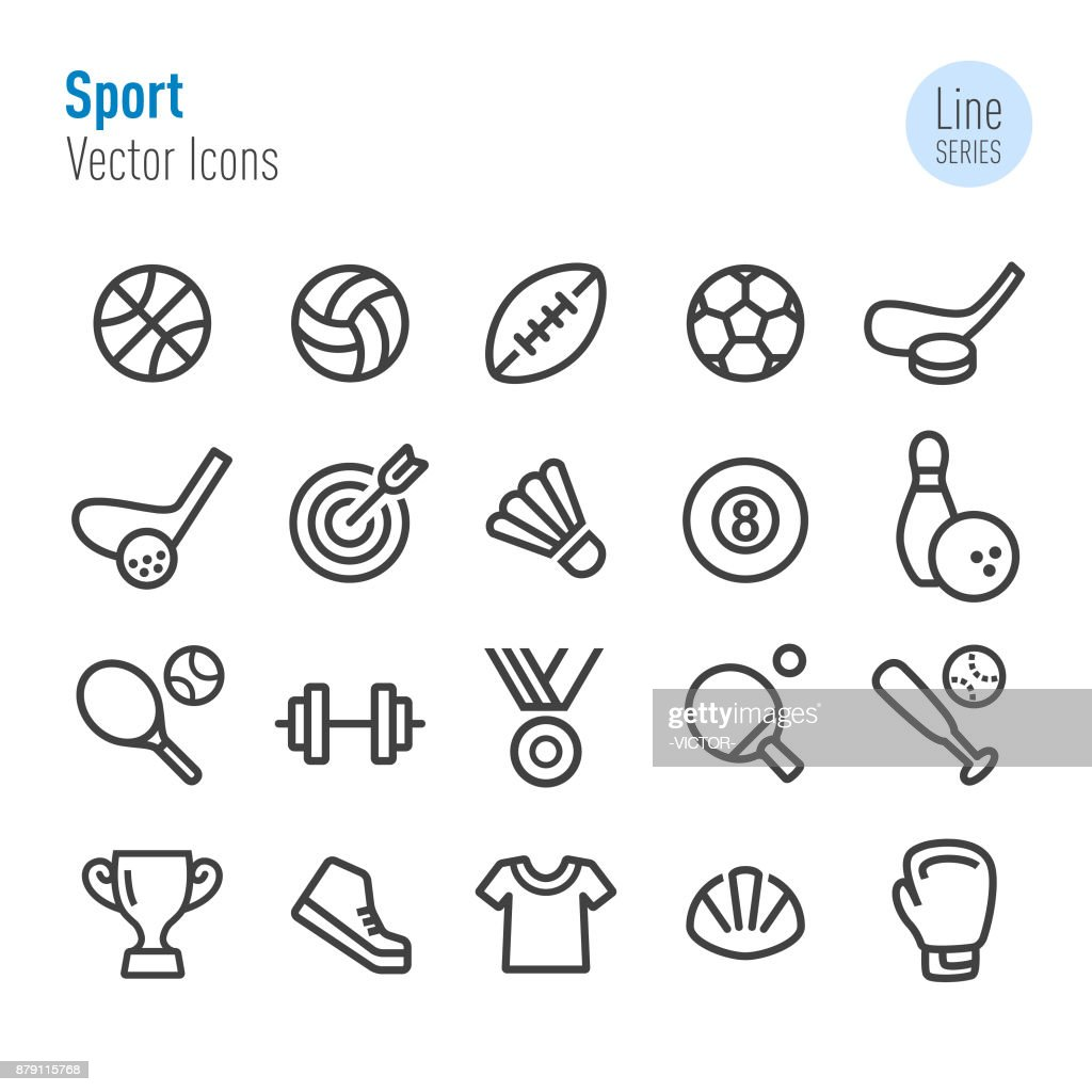 Sport Icons - Vector Line Series : Stock Illustration