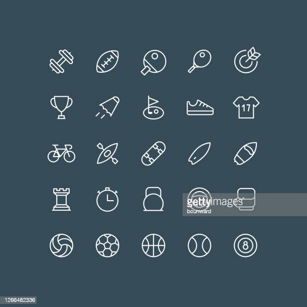 sport line icons editable stroke - rugby ball stock illustrations