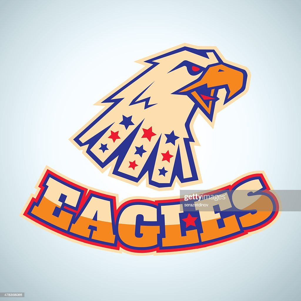 Sport logo with angry eagle