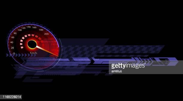 sport panel - speedometer stock illustrations