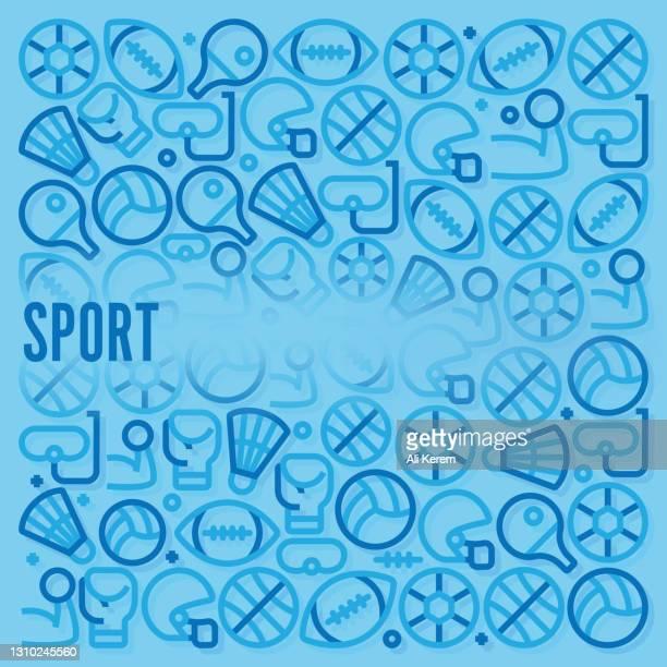 sport pattern - badminton sport stock illustrations