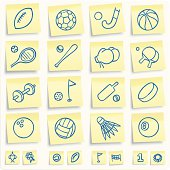 Sport post-it notes