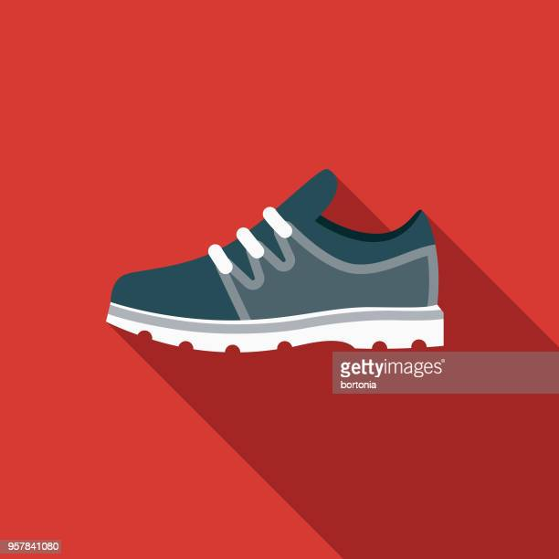 Sport Shoe Flat Design Sports Icon with Side Shadow