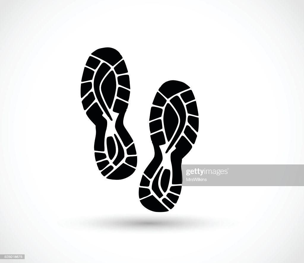 Sport shoe print vector