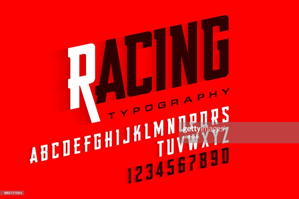 Sport style font