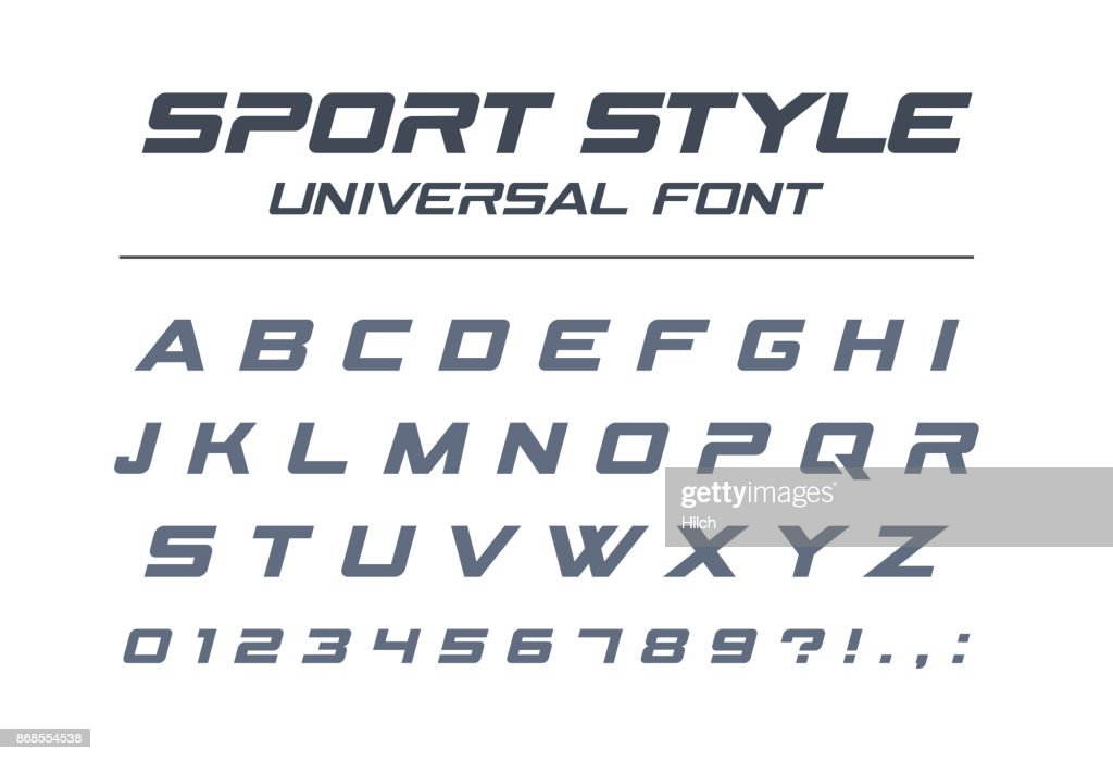 Sport style universal font. Fast speed, futuristic, technology, future alphabet.