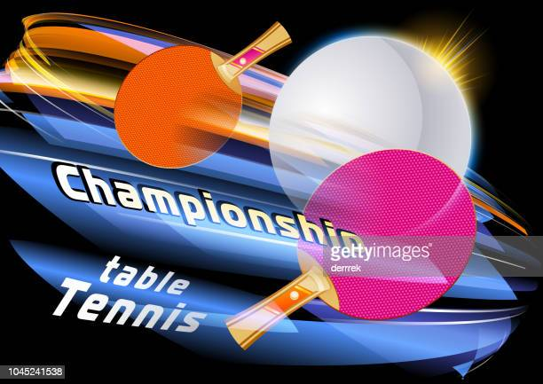 sport table tennis - table tennis tournament stock illustrations, clip art, cartoons, & icons