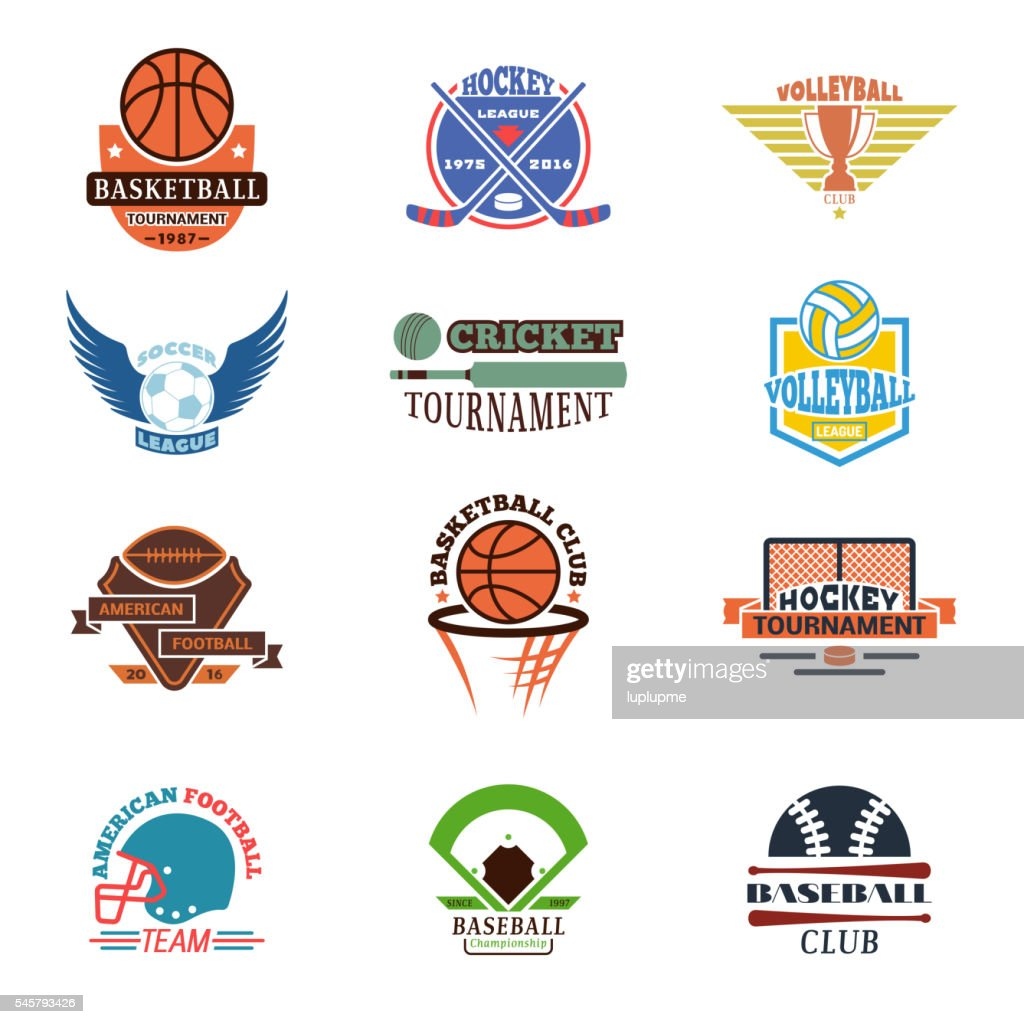 Sport team badge vector set.