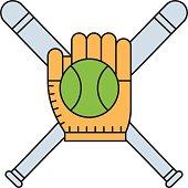Sport team baseball vector.