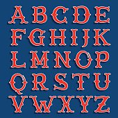 Sport team classic style font.