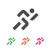 Sport Template. Running Sportsman Logotype. Runner Emblem.