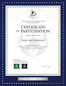 Sport theme certificate of participation template for football events