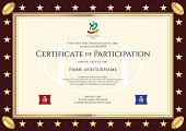 Sport theme certification of participation template for rugby event