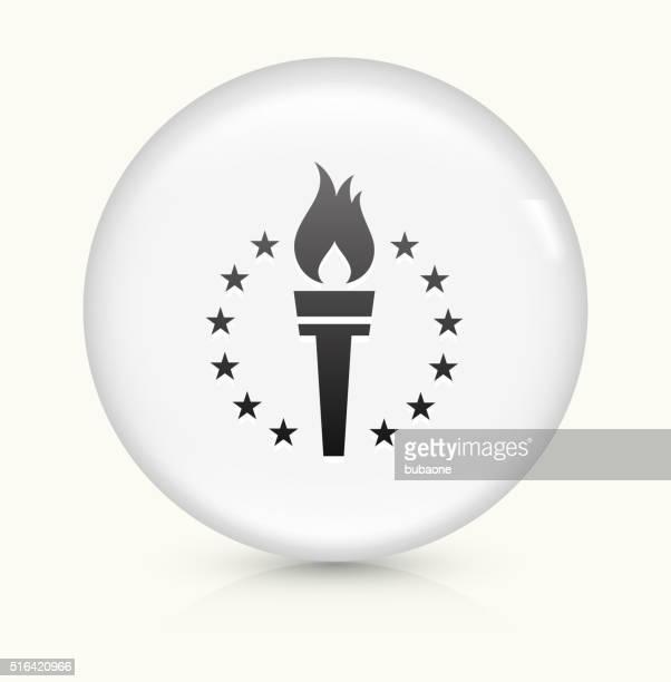 Sport Torch icon on white round vector button