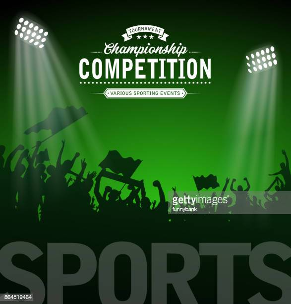 sport tournament label - football field stock illustrations, clip art, cartoons, & icons