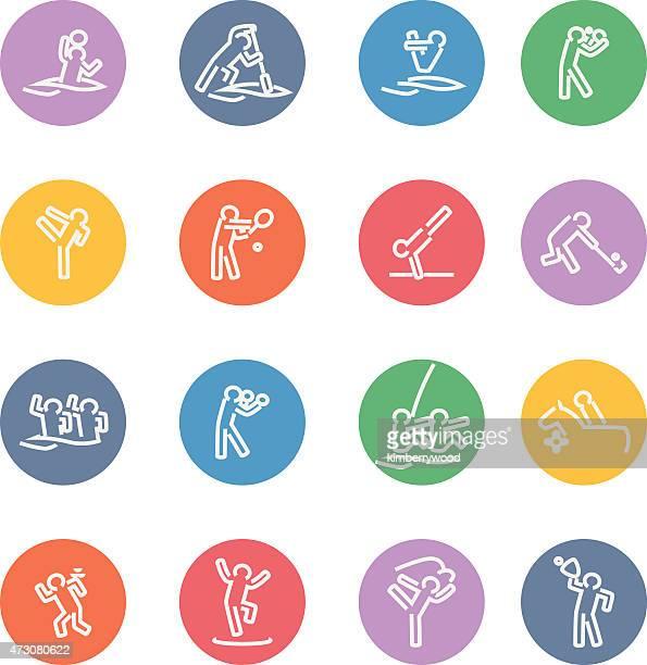 stockillustraties, clipart, cartoons en iconen met sport - match sport